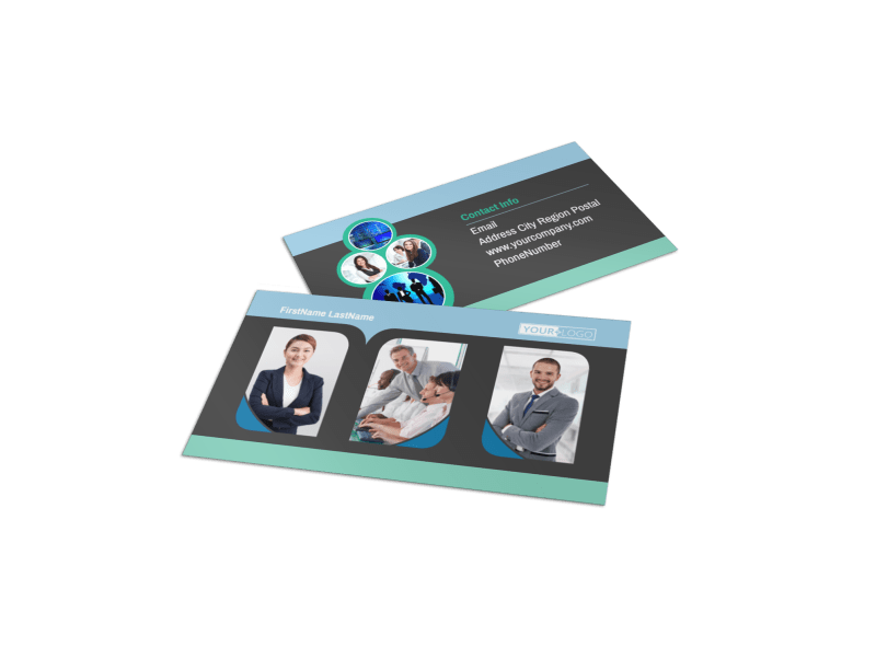 Call Center Service Business Card Template Preview 1