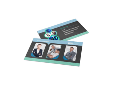 Call Center Service Business Card Template