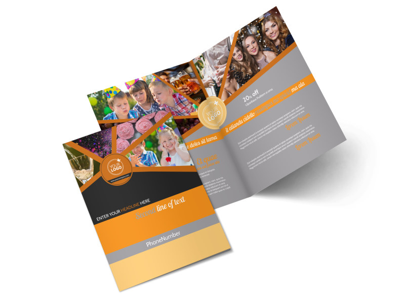 Party Event Services Bi-Fold Brochure Template 2