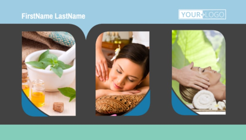 Massage Therapy Spa Business Card Template Preview 2