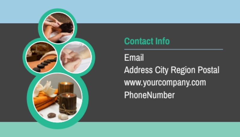 Massage Therapy Spa Business Card Template Preview 3