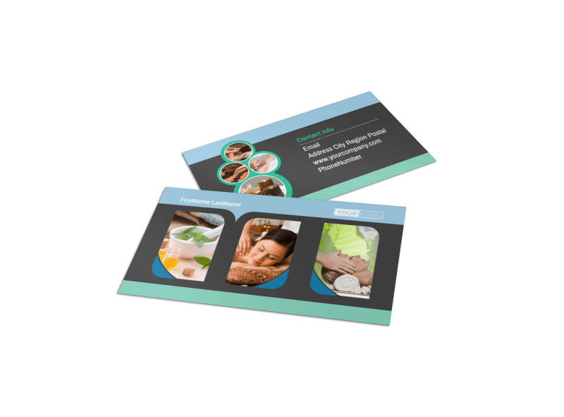 Massage Therapy Spa Business Card Template Preview 1