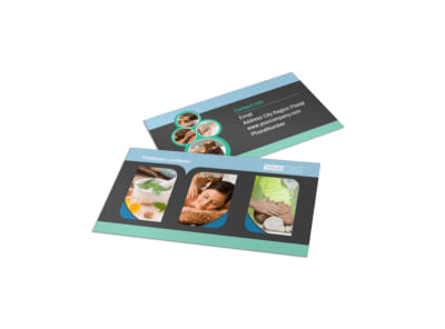 Massage Therapy Spa Business Card Template