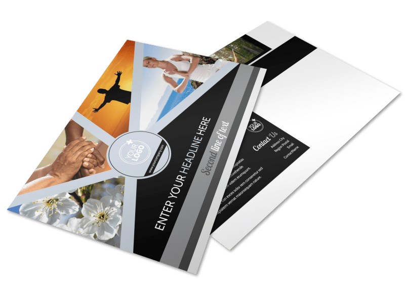 Psychology & Mental Health Center Postcard Template Preview 1