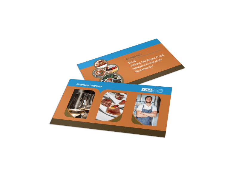 Catering Service Business Card Template Preview 1