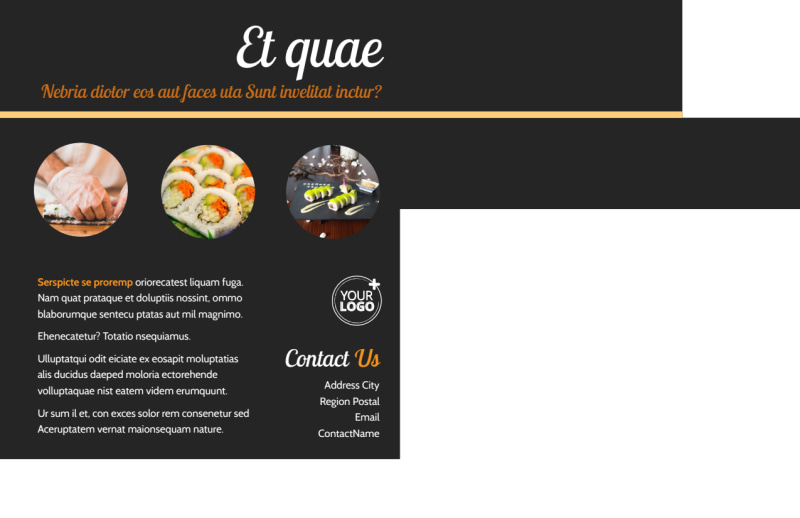 Asian Fusion Restaurant Postcard Template Preview 3