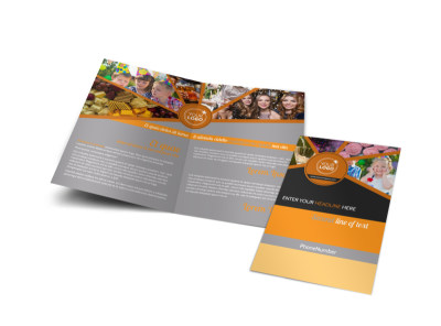 Party Event Services Bi-Fold Brochure Template