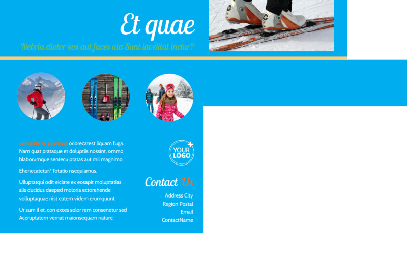 Ski Equipment Postcard Template Preview 3