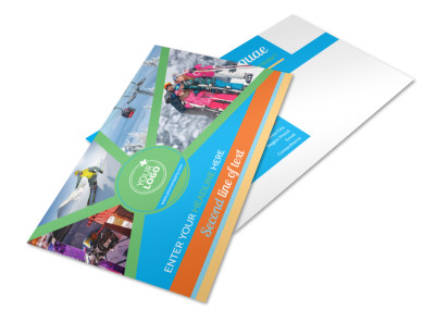 Ski Equipment Postcard Template 2 preview