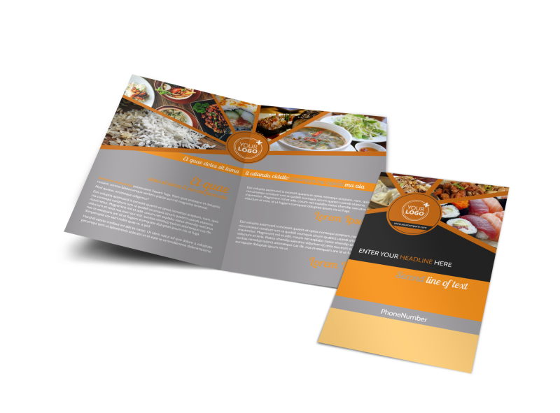 Asian Fusion Restaurant Brochure Template Preview 1