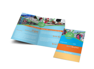 Ski Equipment Bi-Fold Brochure Template