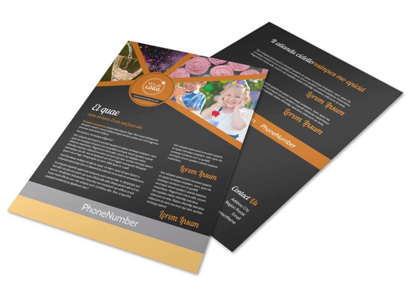 Party Event Services Flyer Template  Mycreativeshop