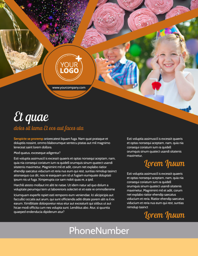 Party Event Services Flyer Template Preview 2