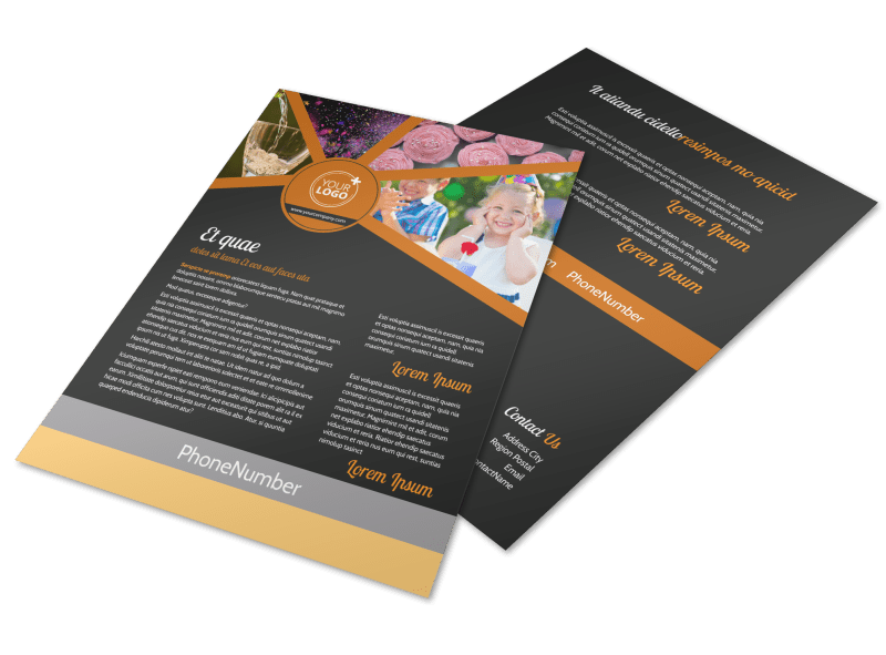 Party Event Services Flyer Template Preview 1