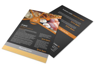 Asian Fusion Restaurant Flyer Template