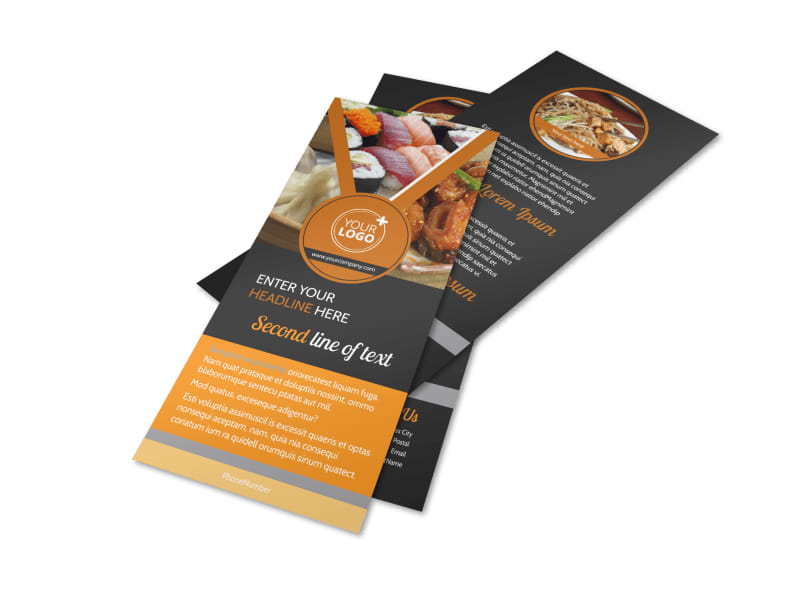 Asian Fusion Restaurant Flyer Template Preview 4