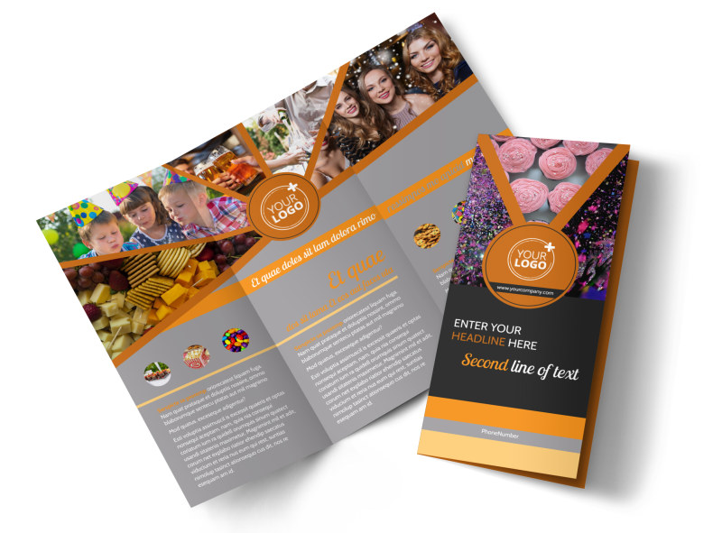 Party Event Services Brochure Template | Mycreativeshop