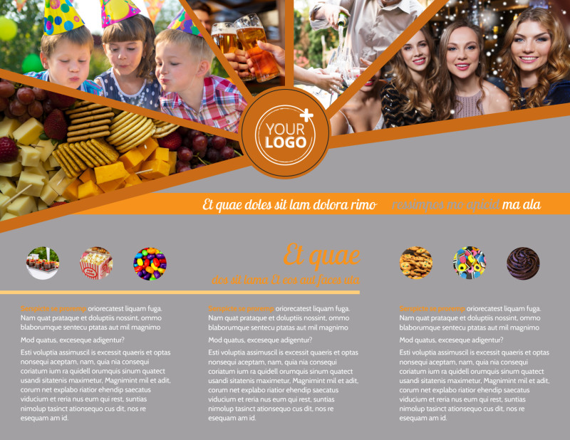 Party Event Services Brochure Template Preview 3