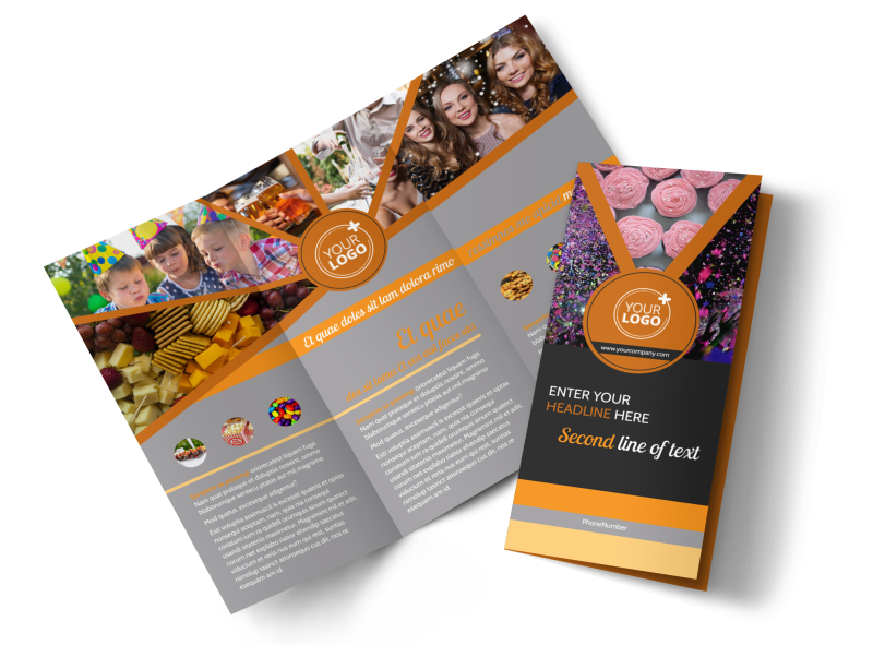 Party Event Services Brochure Template Preview 1