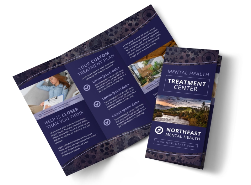 Psychology & Mental Health Center Brochure Template Preview 4
