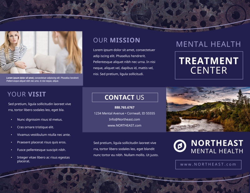 Psychology & Mental Health Center Brochure Template Preview 2