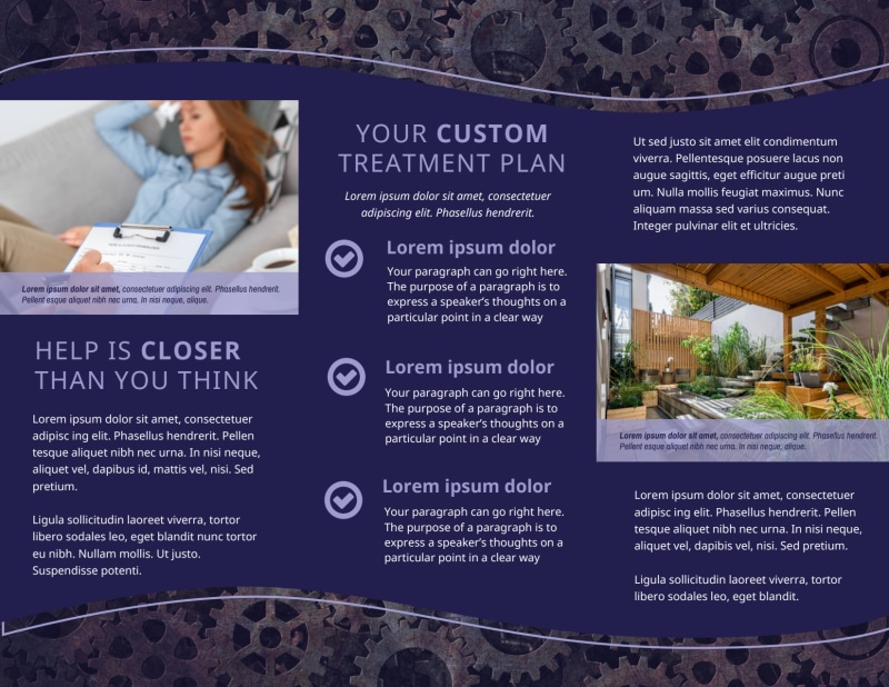 Psychology & Mental Health Center Brochure Template Preview 3