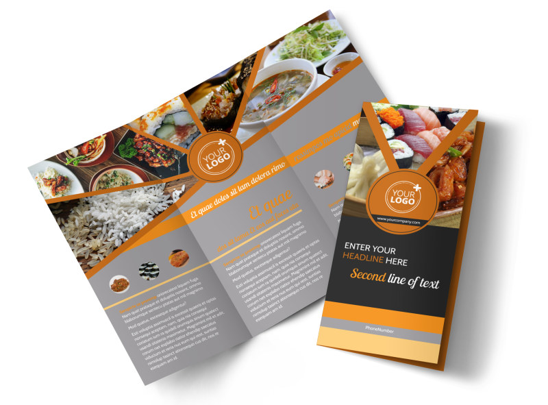 Asian Fusion Restaurant Brochure Template  Mycreativeshop