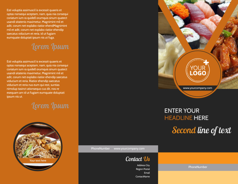 Asian Fusion Restaurant Brochure Template Preview 2