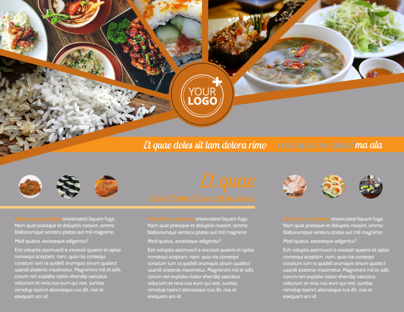 Asian Fusion Restaurant Brochure Template Preview 3