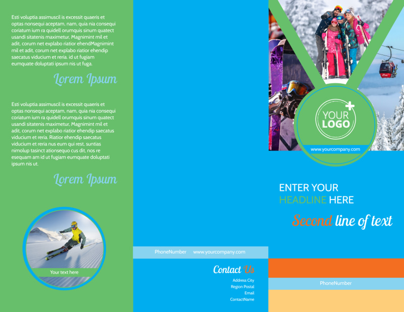 Ski Equipment Brochure Template Preview 2