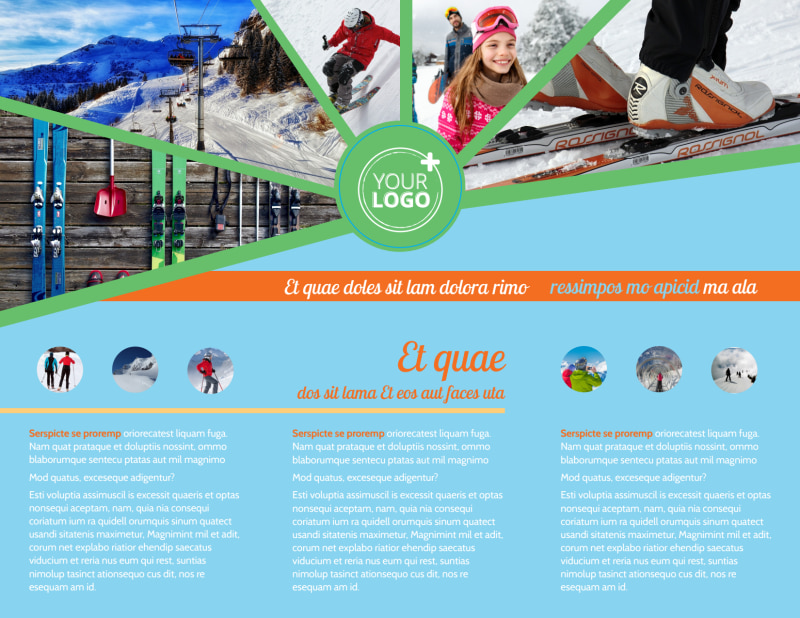 Ski Equipment Brochure Template Preview 3