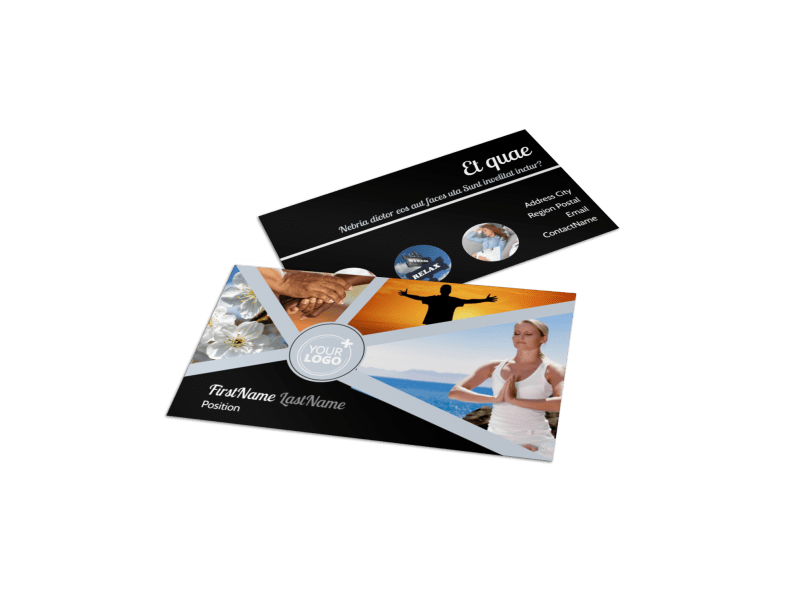 Psychology & Mental Health Center Business Card Template Preview 1