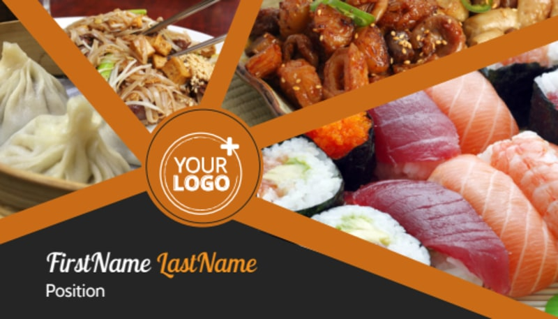 Asian Fusion Restaurant Business Card Template Preview 2