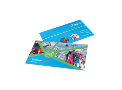 Ski Equipment Business Card Template preview