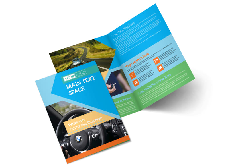 Driving School Bi-Fold Brochure Template 2