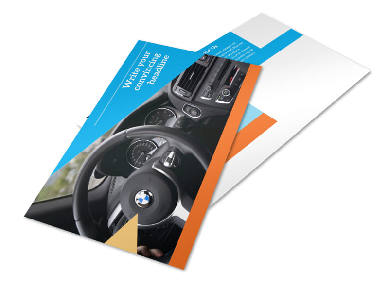 Driving School Postcard Template 2