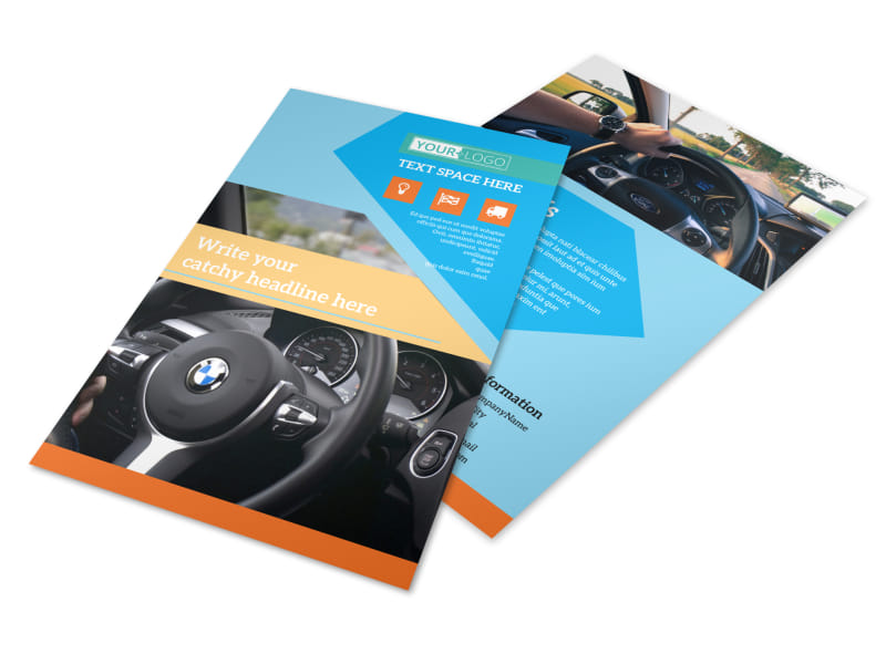 Driving School Flyer Template 3
