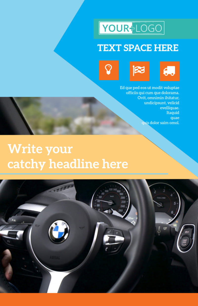 Driving School Flyer Template Preview 2