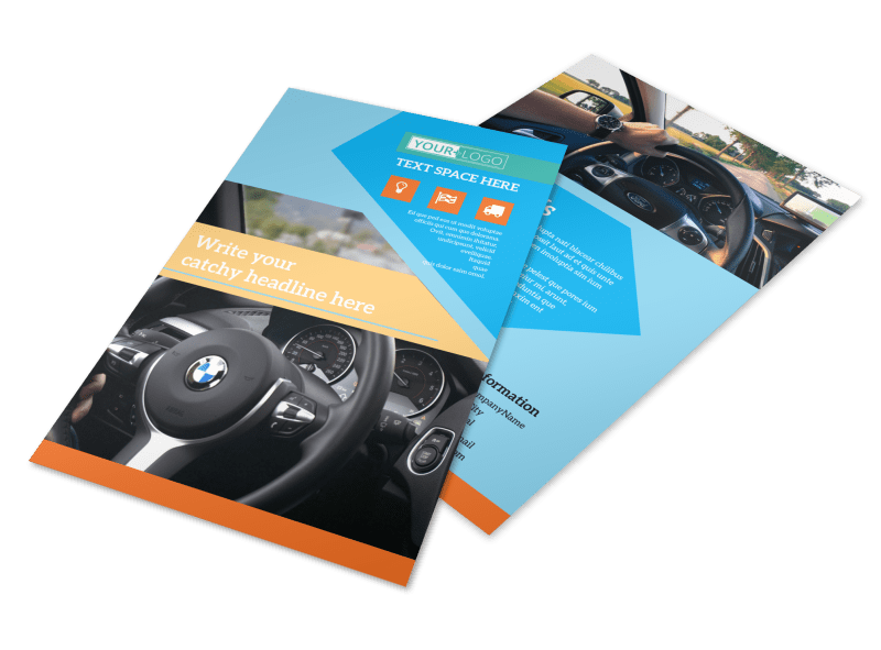 Driving School Flyer Template Preview 1