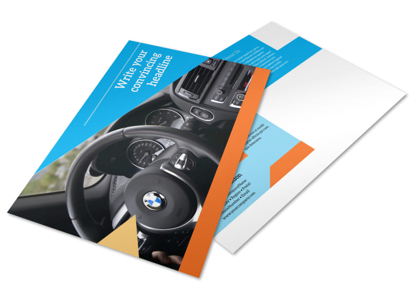 Driving School Postcard Template Preview 4