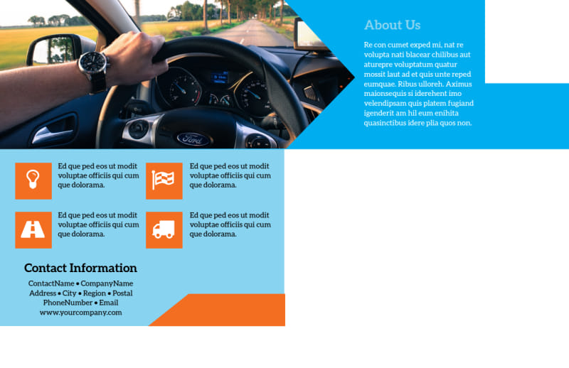 Driving School Postcard Template Preview 3