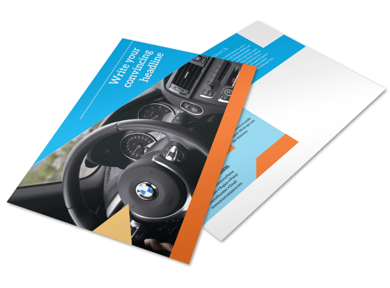 Driving School Postcard Template Preview 1