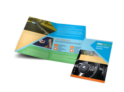Driving School Bi-Fold Brochure Template