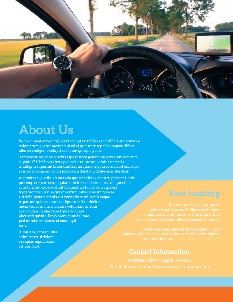 Driving School Flyer Template Preview 3