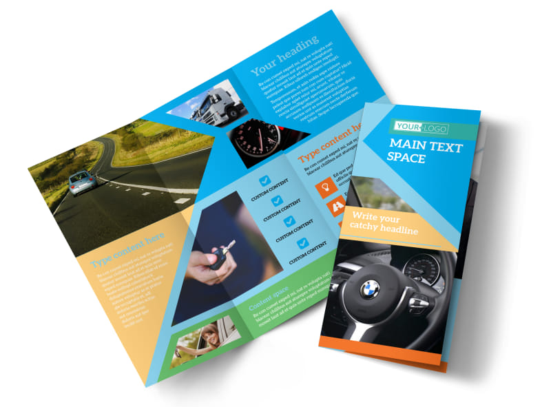 Driving school brochure template mycreativeshop for Tri fold school brochure template