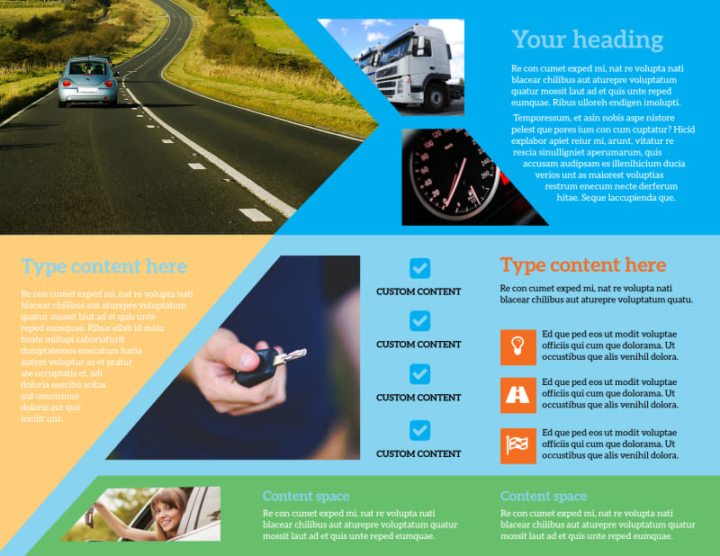Driving School Brochure Template Preview 3