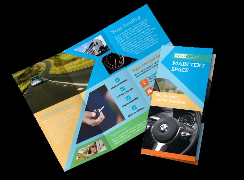 Driving School Brochure Template Preview 1