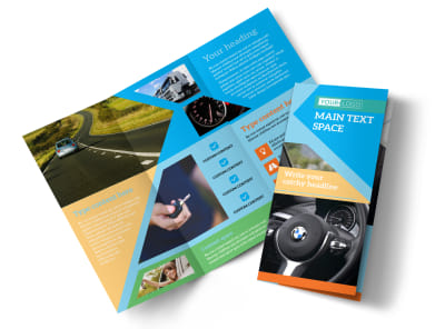 Driving School Tri-Fold Brochure Template