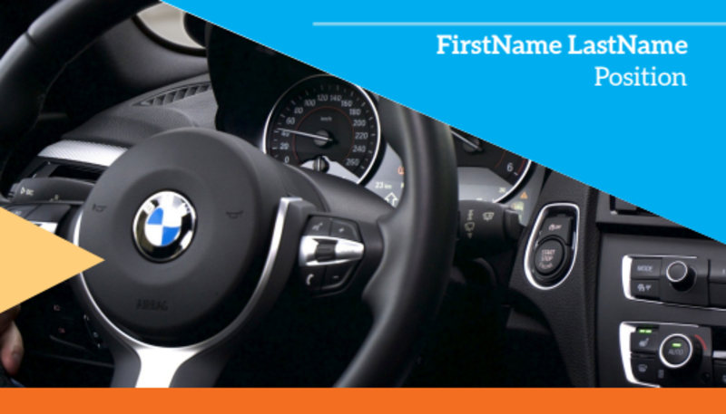 Driving School Business Card Template Preview 2