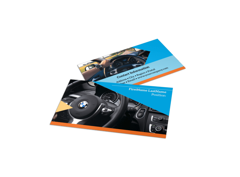 Driving School Business Card Template Preview 1